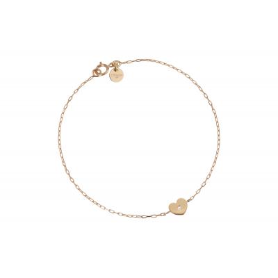 Bracelet Cœur avec diamant petit modèle