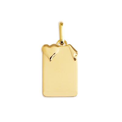 Médaille Parchemin polie avec Cœur