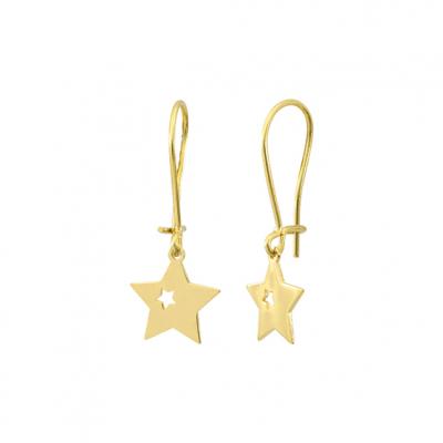Boucles d'oreilles Etoile avec diamant
