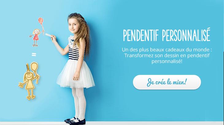 Transformez son dessin en pendentif personnalisée!